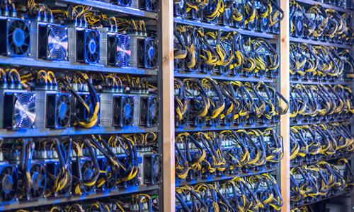Các máy đào tiền mã hóa.