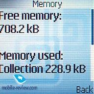 Có thể xem tình trạng bộ nhớ.