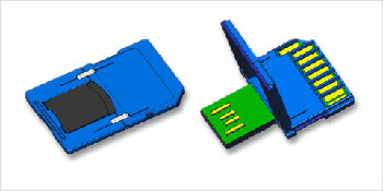 Thẻ SD USB 1 Gb của Sandisk.