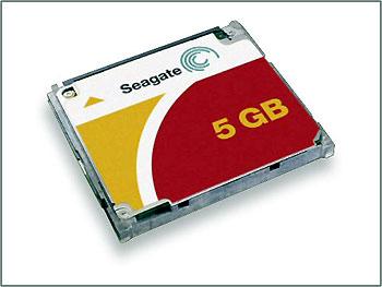 Ổ cứng CF 5 Gb của Seagate.
