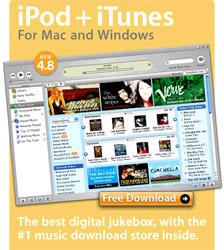 Giao diện trang download nhạc trực tuyến iTunes.