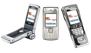 Một số điện thoại dòng N của Nokia.