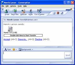 Virus thường lây lan qua những file gửi từ IM.