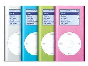 iPod Mini có nhiều màu sắc phong phú. Ảnh: Kakaku.