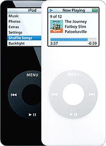 iPod Nano chỉ có hai màu đen trắng. Ảnh: iLaunge.