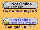 Cửa sổ thống báo nhân viên hỗ trợ đi vắng hoặc có mặt trên trang 911. (Ảnh chụp màn hình)