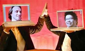 Hai triệu phú trẻ tuổi Chad Hurley và Steve Chen - hai triệu phú