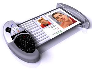 Kéo màn hình ra để xem hình người gọi tới. Ảnh: Mobilemag.