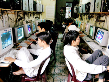 Một quán game tại Hà Nội.