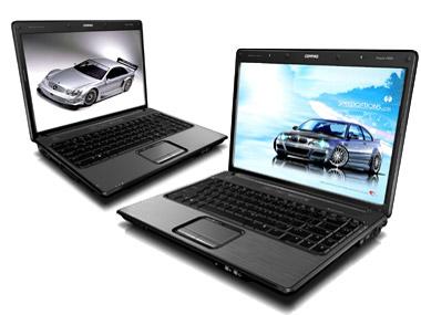 HP Compaq Presario V3105TU (trái) và V3187TU (phải).