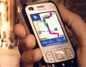 Nokia 6110 với bản đồ trên màn hình. Ảnh: Phonemag.