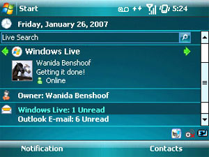 Windows Mobile 6. Ảnh: Engadget.