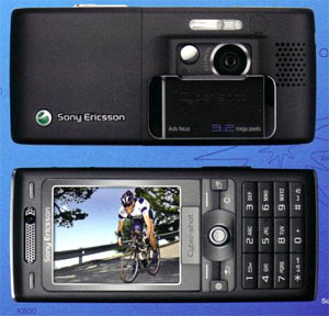 Sony Ericsson K800i. Ảnh: Photobucket.