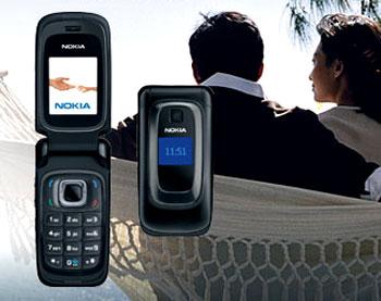 Nokia 6085 dáng gập duy nhất trong bảng xếp hạng. Ảnh: Nokia.