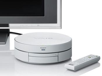Hệ thống giải trí trong phòng khách Sony Vaio TP1. Ảnh: T3.