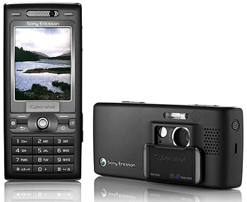 Sony Ericsson K800i hỗ trợ mạng 3G. Ảnh: Wychian.