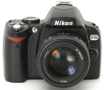Nikon D40x đã khắc phục nhược điểm lớn nhất của D40 bằng cách nâng độ phân giải của cảm biến ảnh lên 10,2 Megapixel. Ảnh: Dpreview.