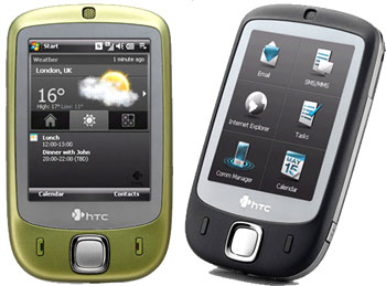 Ngoài màu đen, HTC Touch có phiên bản màu xanh rêu. Ảnh: Ferra.