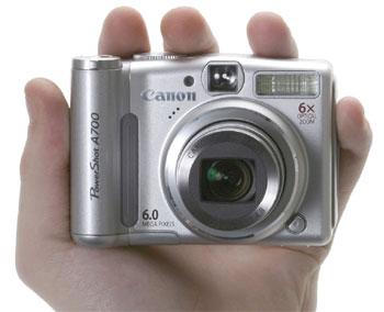 A700 có zoom quang 6x. Ảnh: Dpreview.
