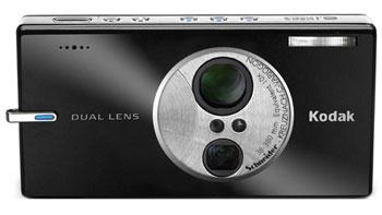 EasyShare V610 là máy ảnh số ống kính đôi của Kodak. Ảnh: Cnet.