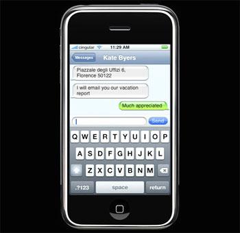 Bàn phím Qwerty trên điện thoại iPhone. Ảnh: Static.