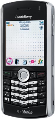 BlackBerry Pearl 8100 có trackball điều hướng. Ảnh: Telefon.