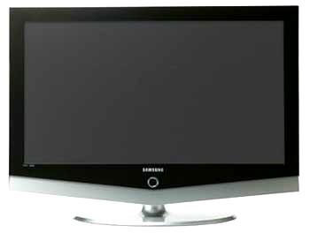 TV Samsung chia hình trên một bộ dò đài. Ảnh: Noticiastech.