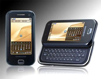 Samsung F700 có kiểu dáng giống iPhone và LG Prada. Ảnh: i.n.com.