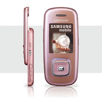 Samsung L600 có ngoại hình đầy nữ tính. Ảnh: Samsung Vina.