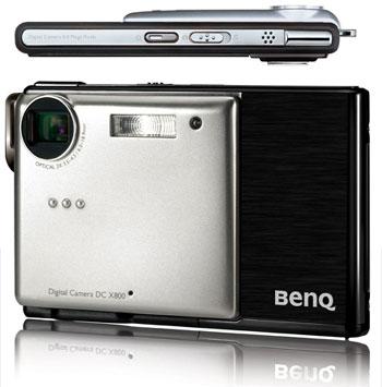 BenQ DSC X880 - chiếc máy ảnh 8 chấm mỏng nhất thế giới hiện nay. Ảnh: Engadget.