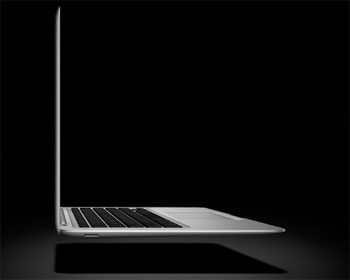 Apple MacBook Air - laptop mỏng nhất thế giới. Ảnh: Engadget.