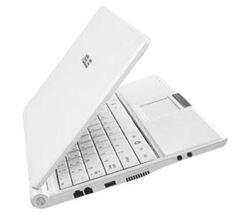 Asus Eee PC có ngoại hình nhỏ gọn hết sức ấn tượng. Ảnh: Cnet.