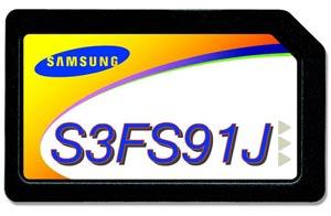 Samsung vừa giới thiệu SIM 768kilobyte (KB) flash embedded SIM card IC, the S3FS91J