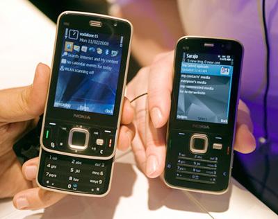 N96 ra mắt cùng với Nokia N78 tại MWC 2008. Ảnh: Nokia.