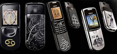Những tác phẩm chạm khắc trên dòng 8800 của Nokia. Ảnh: Phonearena.
