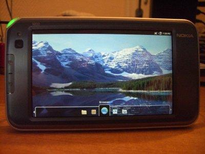 Giao diện màn hình của Android trên N810. Ảnh: Talkandroid.