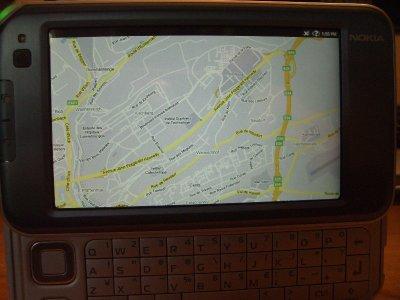Hệ thống bản đồ Google trên N810. Ảnh: