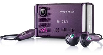 Màn hình ngoài của W380i hiển thị thông tin nghe nhạc. Ảnh: Sony Ericsson.