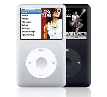iPod Clasic là bản nâng cấp của Nano cho phép xem phim. Ảnh: Laptoplogic.
