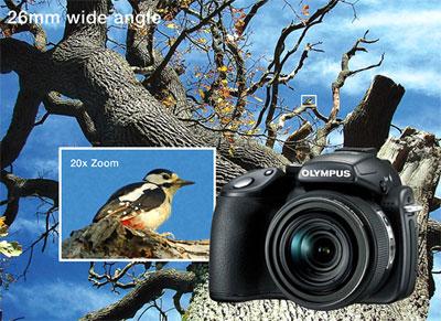 Với ống kính zoom quang 20x, khả năng chụp xa của Olympus SP-570UZ không có chiếc camera nào bì kịp. Ảnh: Letsgodigital.