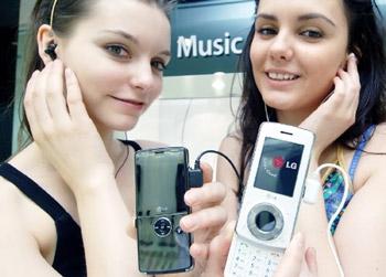 Bộ đôi điện thoại chơi nhạc mới của LG. Ảnh: Softpedia.