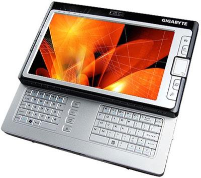 Gigabyte M700 - UMPC có màn hình 7 inch. Ảnh: Reghardware.