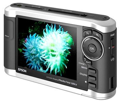 Epson P-3000 có màn hình rộng 4 inch. Ảnh: Dpreview.