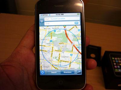 Tốc độ bắt sóng GPS của máy rất nhanh. Ảnh: Nguyễn Quốc Hiển.