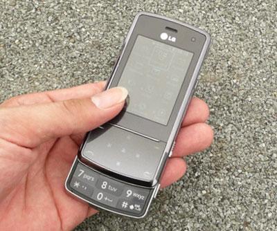 LG KF510. Ảnh: Quốc Huy.