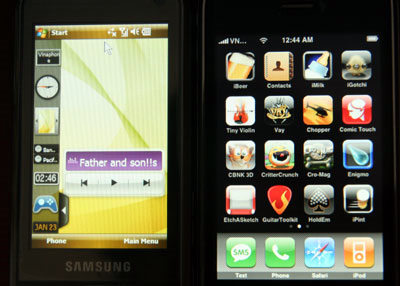 iPhone 3G - Samsung Omnia