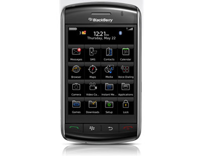 Màn hình cảm ứng của Storm rộng 3,25 inch. Ảnh: BlackBerry.