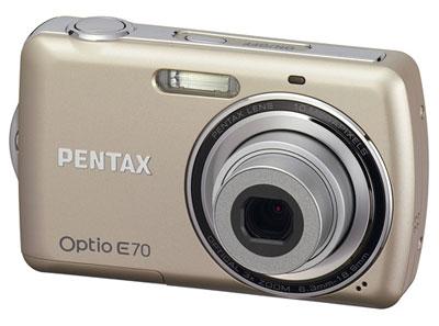 Pentax Optio E70 có cảm biến 10 Megapixel, sẽ được bán với giá 130 USD. Ảnh: Letsgodigital.