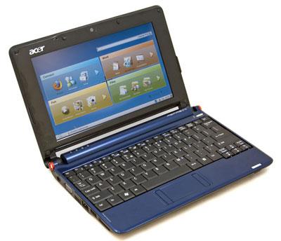 Acer Aspire One với màn hình 8,9 inch là mẫu netbook bán chạy nhất năm 2008. Ảnh: Mobilecomputermag.