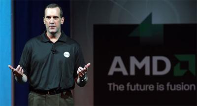 Dirk Meyer giới thiệu siêu máy tính Fusion tại CES 2009. Ảnh: Reuters.